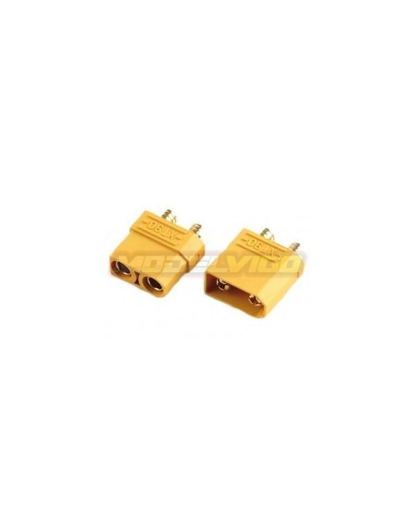 CONECTORES XT90 MDV MACHO/HEMBRA (1PAR)
