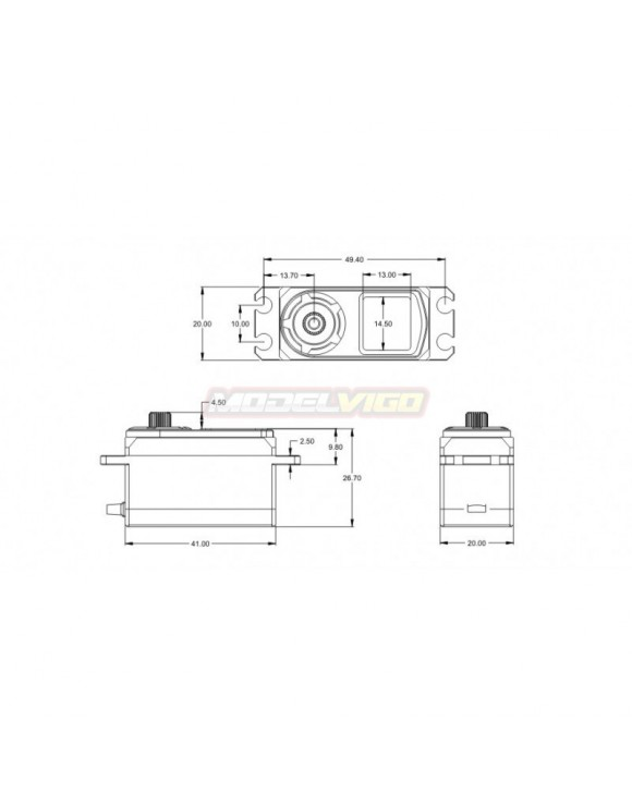 SERVO SRT BH8015 HV BRUSHLESS BAJO PERFIL CAJA METALICA 15KG 0.05S.