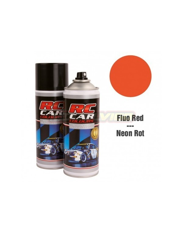SPRAY RC CAR COLOURS ROJO FLUOR