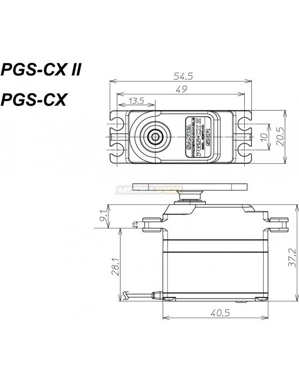 SANWA PGS-CX2 SXR (0.11s/26.5kg/7.4V )